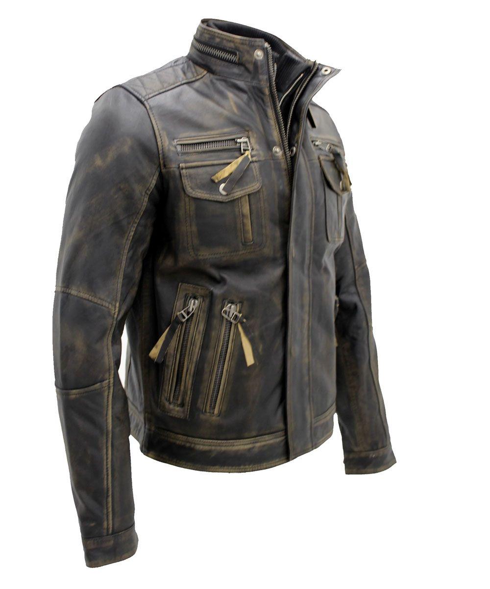 Vintage Black Warm Leather Jacket Mens Leather Jackets On Sale Movies Leather Jackets In Usa Uk Canada Australia Leather Jacket Men Mens Leather Jacket Casual Black Leather Jacket Outfit