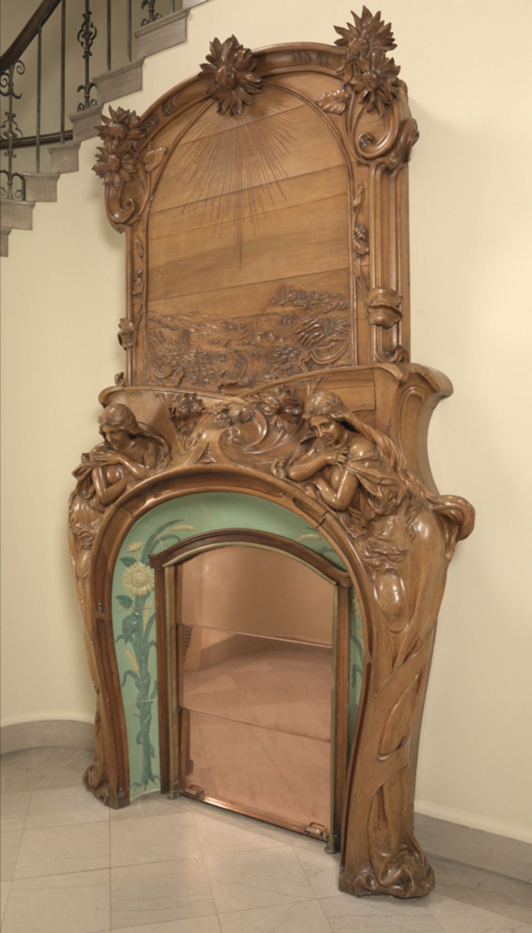 Art Nouveau Fireplaces By Emile Muller Charles Greber And Hugnet Freres Image Source 1 2 3 4 Meubles Art Deco Art Deco Art Nouveau