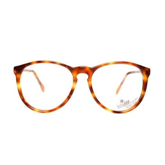 brown round tortoiseshell glasses frames - vintage panto eyeglasses for men and women - new 80s deadstock - model tortoise shell 658