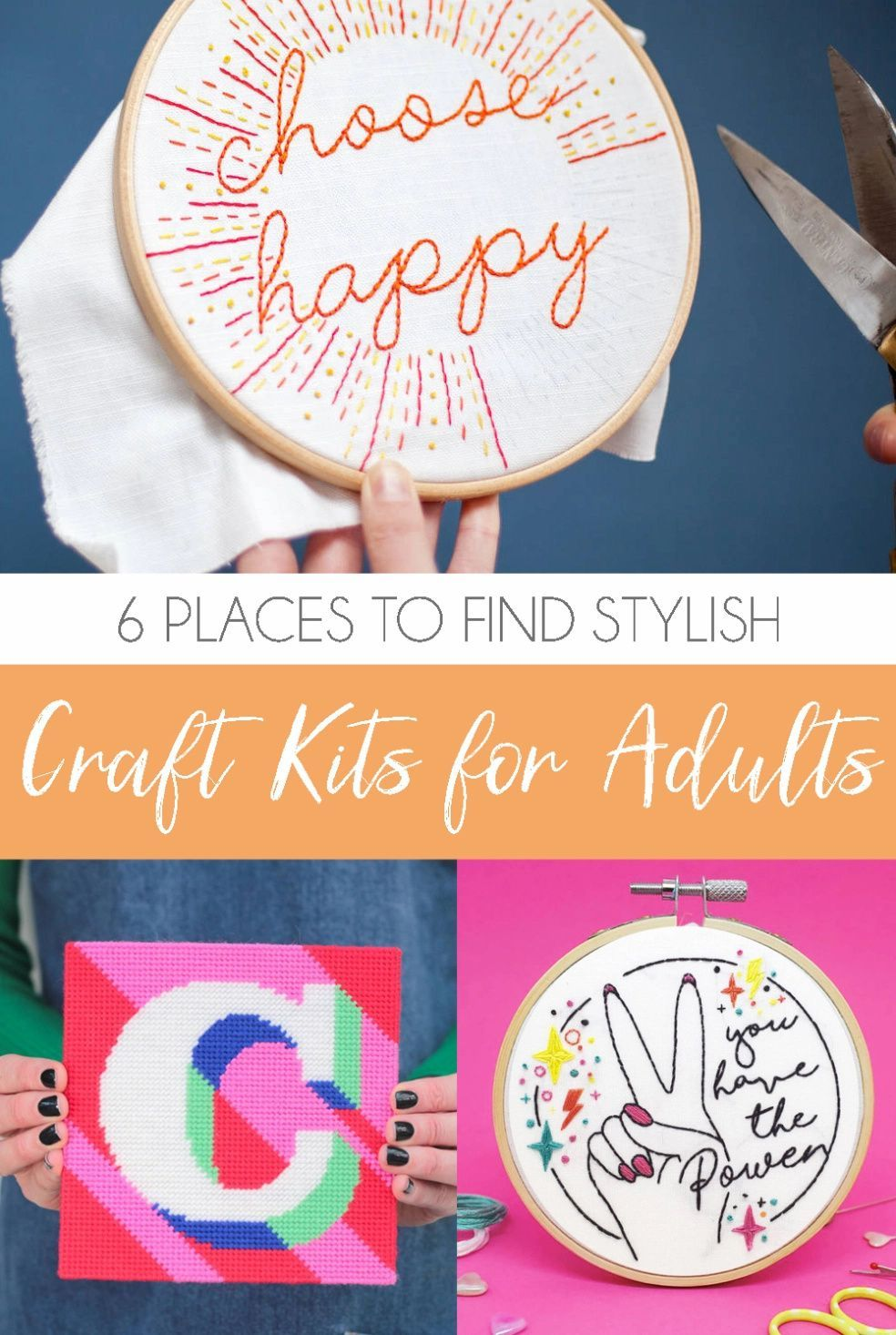6 Stunning Contemporary Craft Kits For Adults In 2020 Craft Kits Contemporary Crafts Crafts