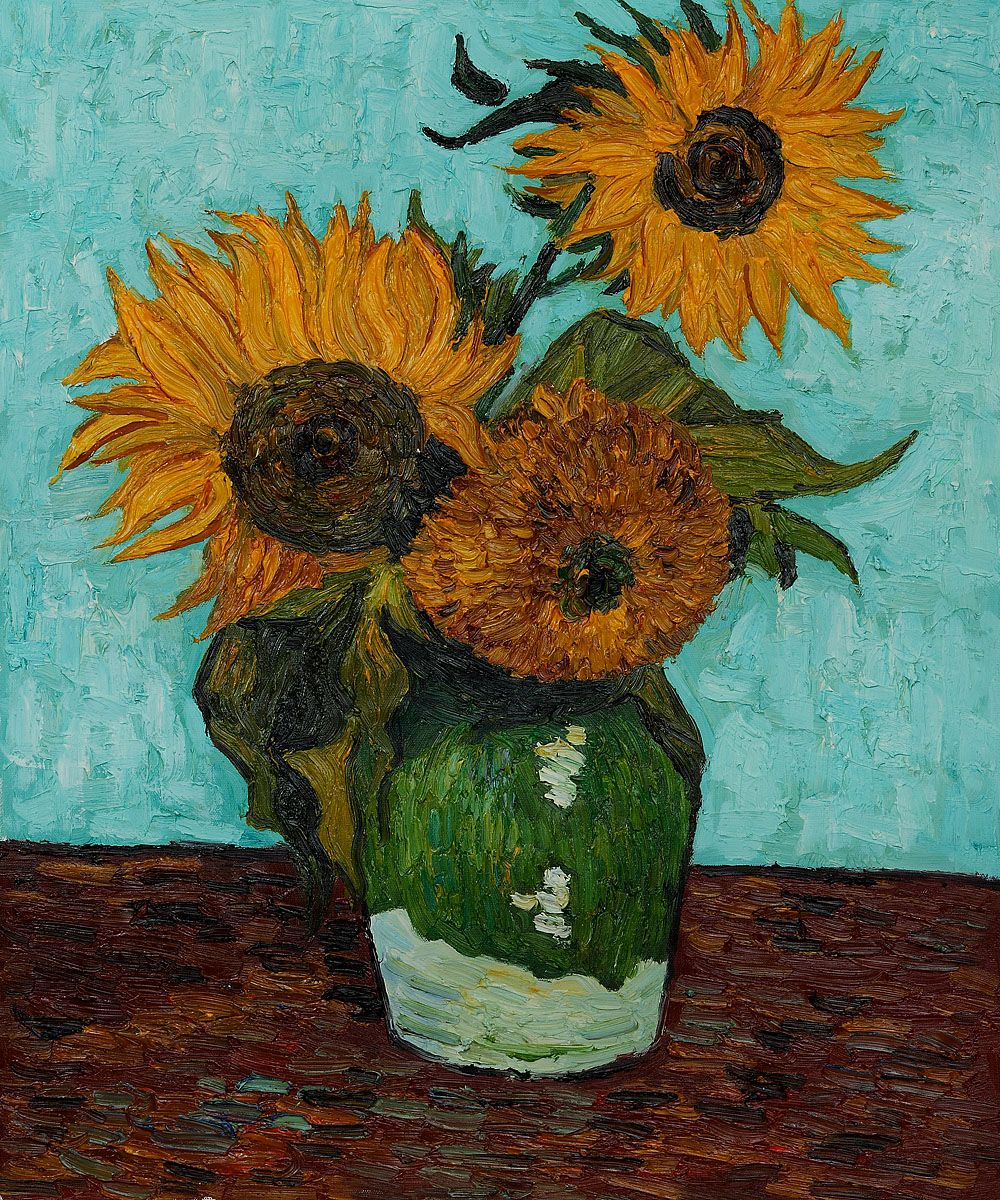 Sunflowers First Version By Vincent Van Gogh Click