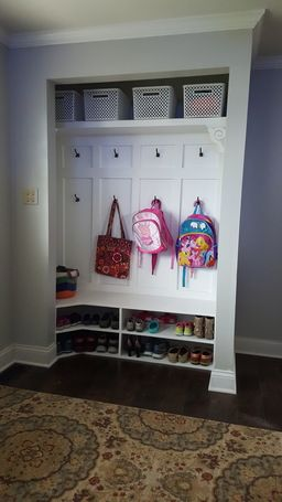 Closet Turned Into A Mini Mudroom! Such A Clever Project By RYOBI Nation  Member Kabbnet. This Is A Really Great DIY Project To Improve The Look Of  An ...