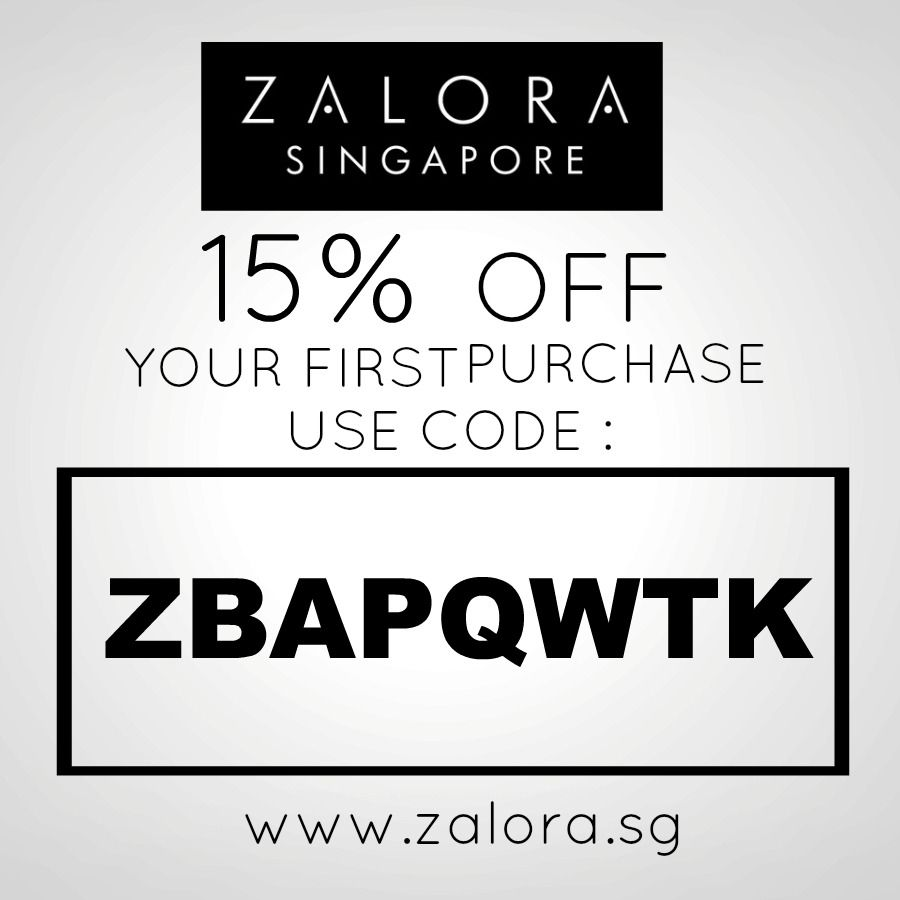 http://www.zalora.sg Shop now at ZALORA and get a 15% discount with this voucher code: ZBAPQWTK*  *for first purchase only