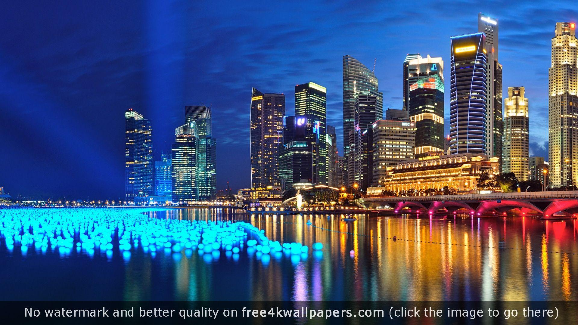 Marina Bay Singapore Panorama Hd Wallpaper Types Of Photography Wallpaper Gallery City Wallpaper