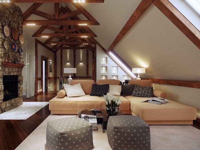 1001 ideen f r einrichtung von einer mansarde dachgeschosswohnung luxuswohnungen und stehlampen. Black Bedroom Furniture Sets. Home Design Ideas