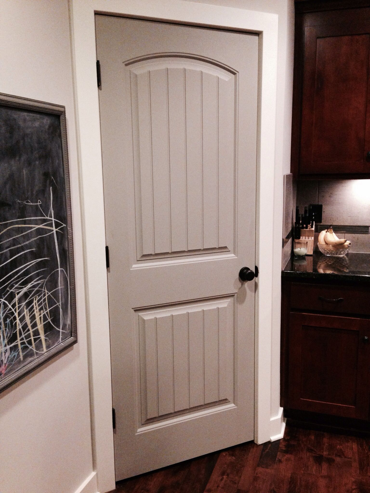 Painted pantry door pavestone by sherwin williams my for Interior trim and door color ideas