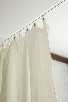 linen room divider curtains