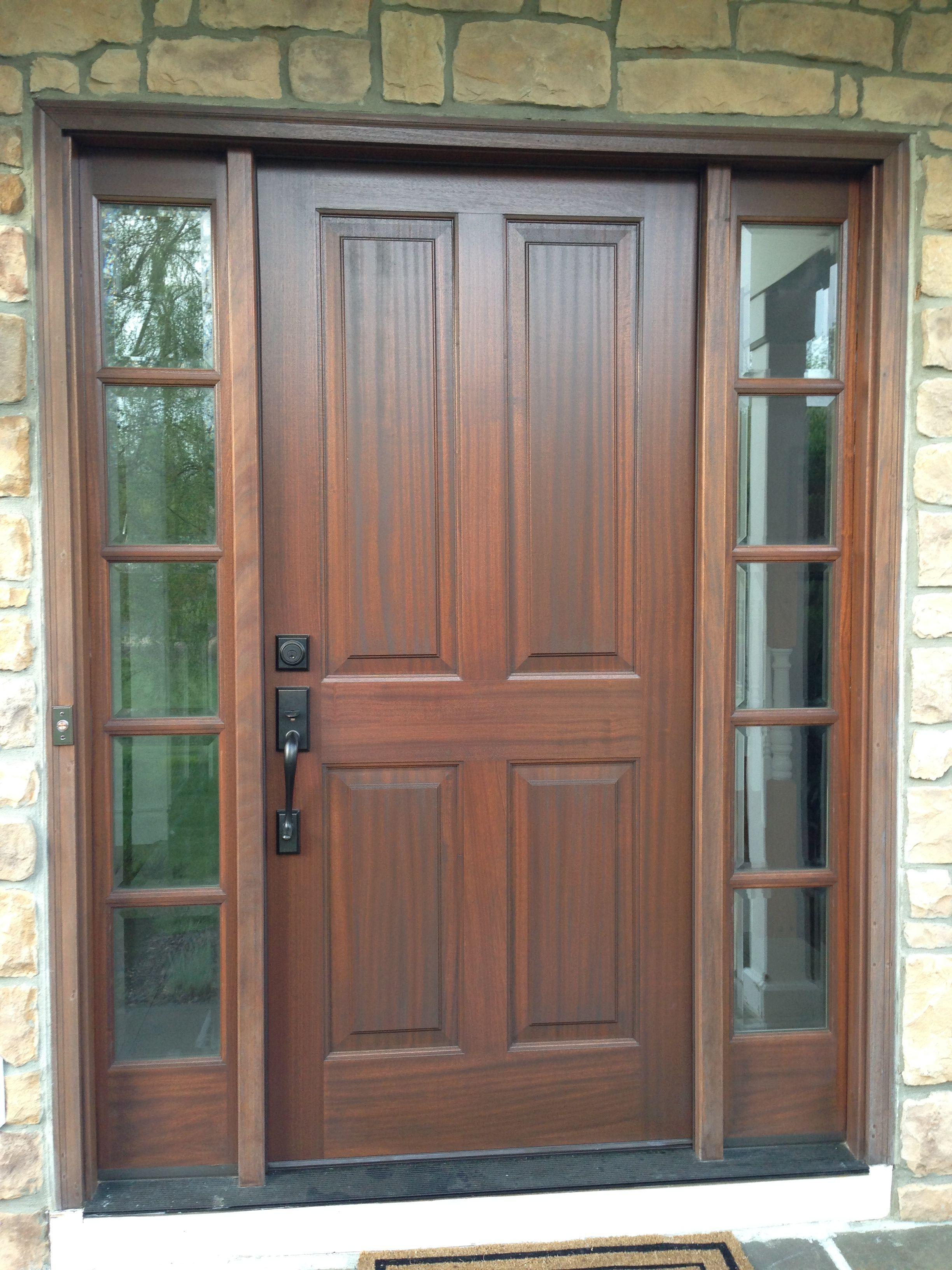 Mahogany Front Door system & Mahogany Front Door system | Reno Ideas | Pinterest | Front doors ...