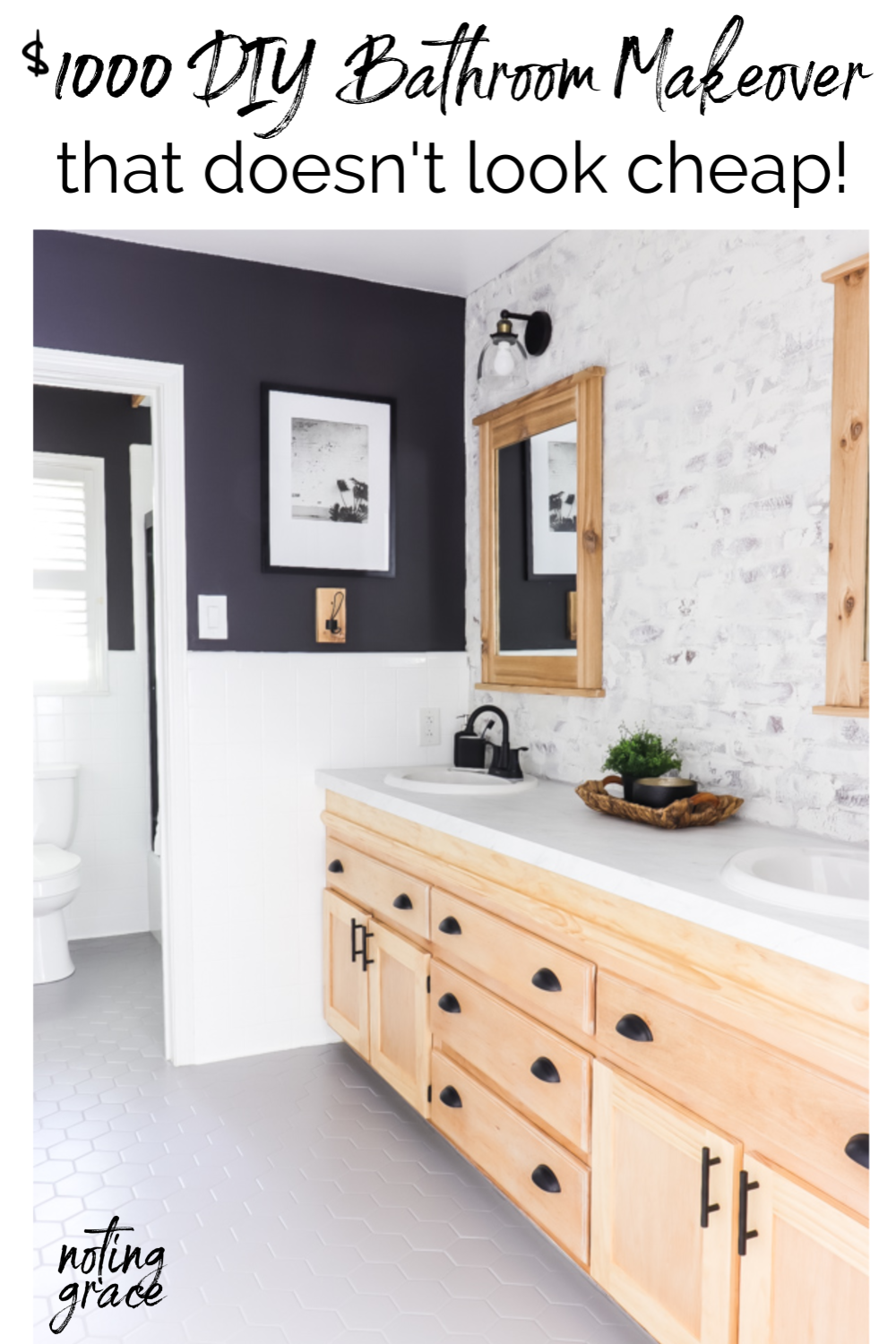 $1000 DIY Bathroom Makeover that doesn't look Cheap (With ...