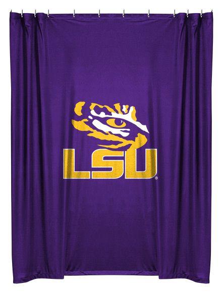 Louisiana State Tigers Shower Curtain Lsu Lsu Tigers Louisiana