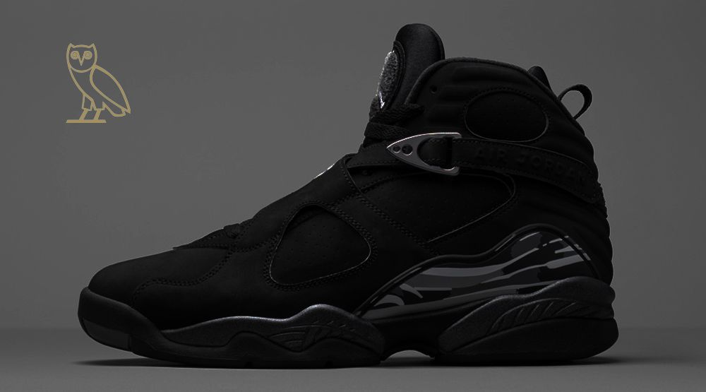 "kickzzondeck: ""Air Jordan 8 ""OVO"" Colors: Black-Grey ""There is no official  release date for this ""OVO"" sneaker. Drake seems to be keeping it  exclusively to ..."