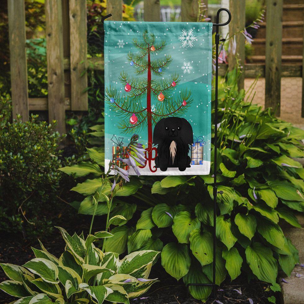 Merry Christmas Tree Pekingese 2-Sided Garden Flag