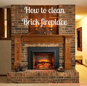How to clean Brick fireplace | HOME | Pinterest | Brick fireplace ...