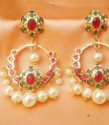 Buy Lovely uncut stone earrings danglers-drop online
