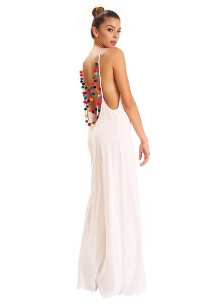 98c25cb7fc89 Pitusa Pom Pom Necklace Dress in White at Supernomad | Fashion ...