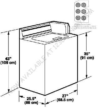 Front Load Washing Machine Dimensions 5 Washer And