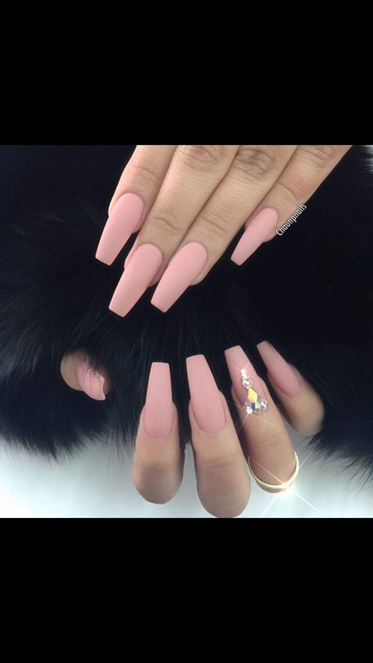 Pink matte coffin nail | claws | Pinterest | Coffin nails