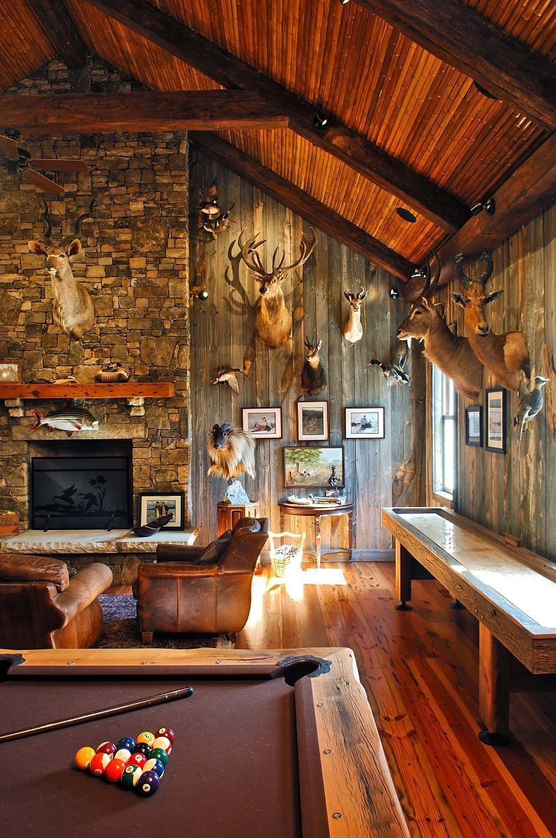 Decorations Inspiring Country Man Caves Idea With Deer