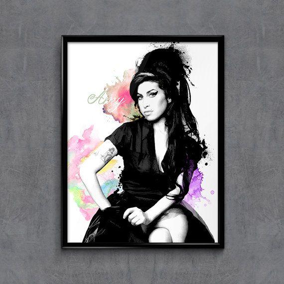 Amy Winehouse Amy Winehouse Art Amy Winehouse Poster Amy Etsy Amy Winehouse Portrait Wall Art