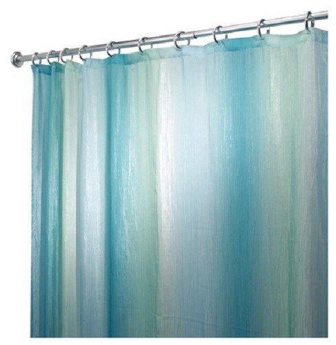 Interdesign 72 X Ombre Blue Green Print Fabric Shower Curtain