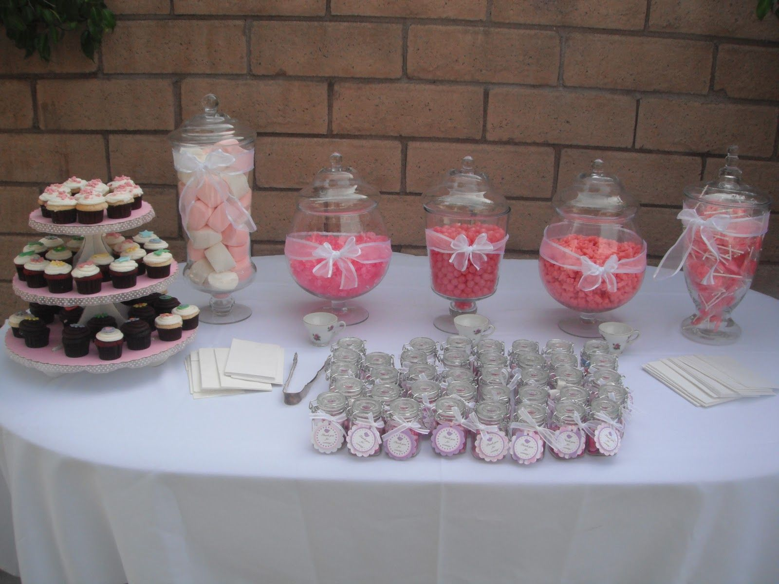 wedding shower candy buffet ideas%0A Baby Shower Table Decorations   This was the candy table for the guest