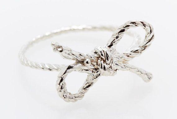 Silver ForgetMeKnot Ring by KielMead on Etsy, $50.00