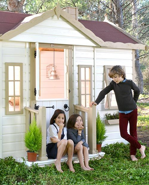 Entrada casa de madera para ni os victoria casitas for Kidkraft casa moderna de madera para exteriores 00182