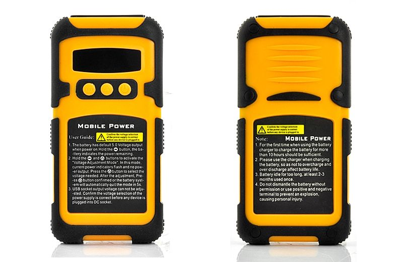 6600mAh Rugged Shockproof, Waterproof Portable Battery (for iPad/iPhone, Samsung, HTC, Micro/Mini USB, More)