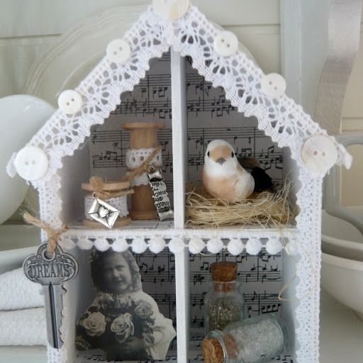 Shabby Chic Inspired: mixed media collage