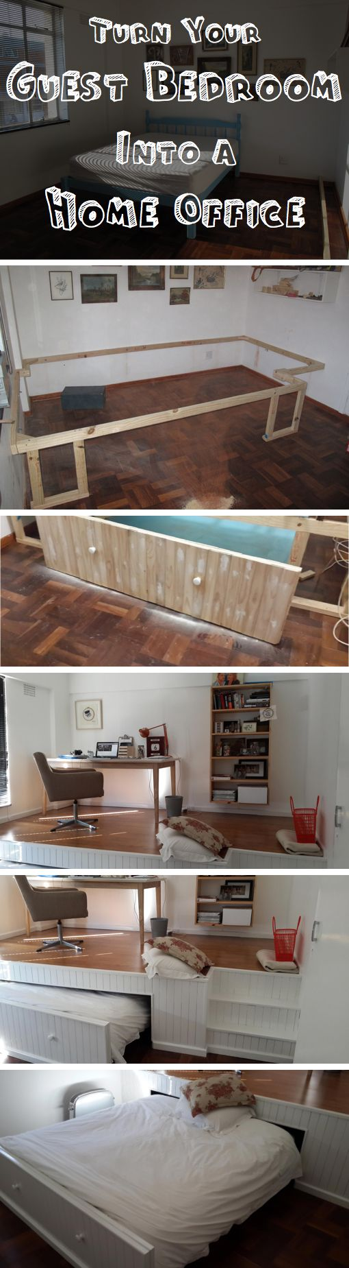 Home bedroom guest room hide a bed cabinet - Turn Your Guest Bedroom Into A Home Office Quickly And Easily