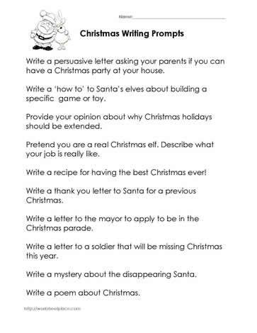 Christmas Writing Prompts  Christmas    Christmas