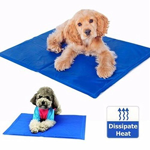 New 65cm X 50cm Dog Cat Pet Cooling Mat Heat Hot Weather Gel Pad