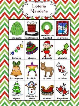 Dibujos De Loteria De Navidad.La Navidad Christmas Activity In Spanish Loteria Navidena
