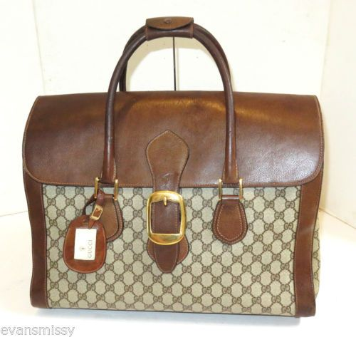 164b7994c28 Authentic-Vintage-GUCCI-Duffel-Travel-Gym-Bag-Suitcase-Carry-On-Tote-Luggage