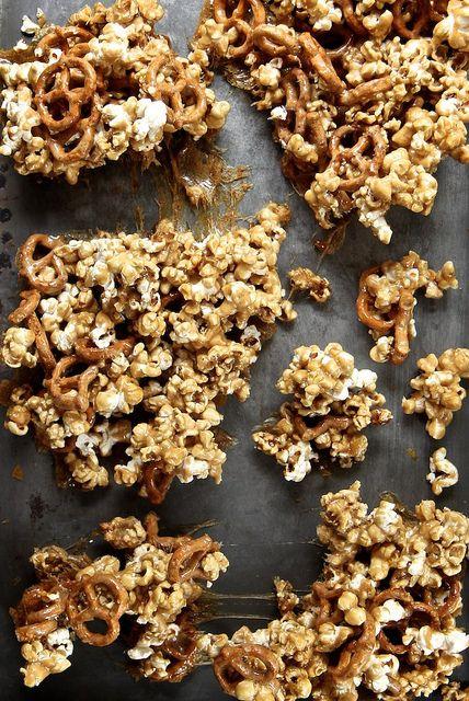 Salty Pretzel Vanilla Caramel Corn by joy the baker @joythebaker (Chex Mix Crack)