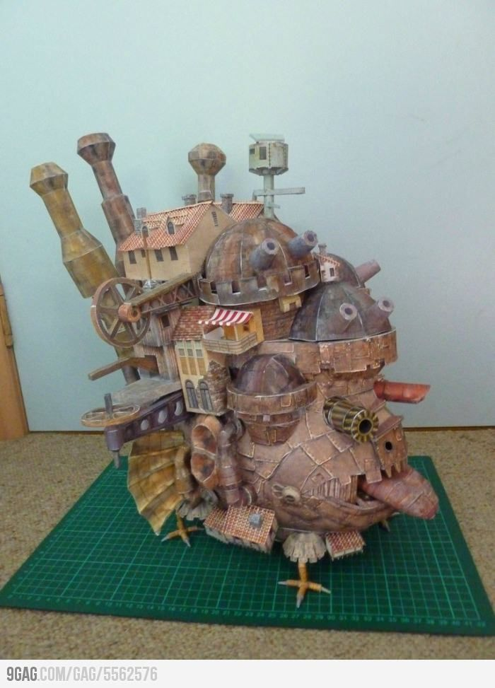 Howl's Moving Castle made from paper