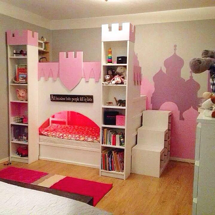Ikea hack, kura säng blev till slott Barn Pinterest Ikea, Barn och För hemmet