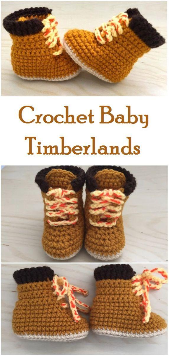 Photo of Warum kaufen, wenn Sie selbst ein Paar erstellen können !!! Häkeln Sie Baby Timberlands mit …