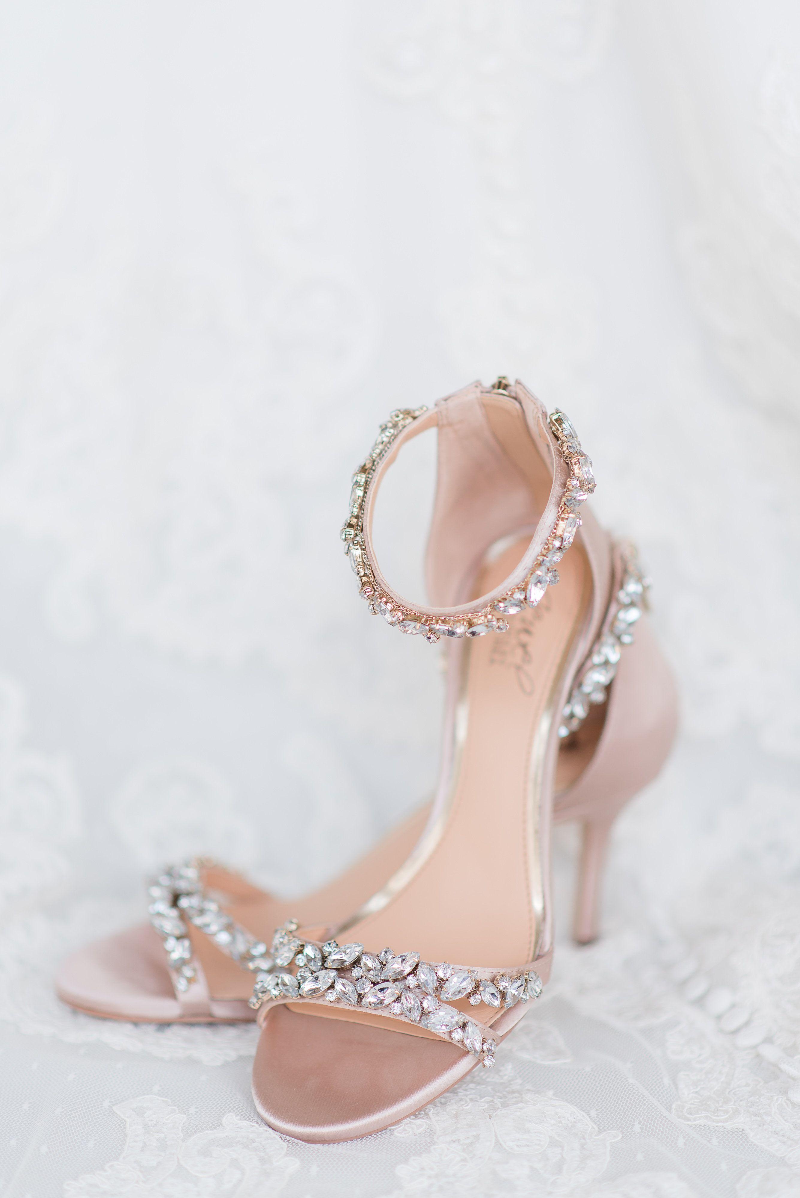 Badgley Mischka Wedding Shoes Bride S Day Details Sparkly Bridal