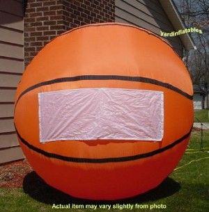 Air Blown Inflatable 6 Basketball Nba Ncaa Yard Decoration Inflatable Basketball Inflatables