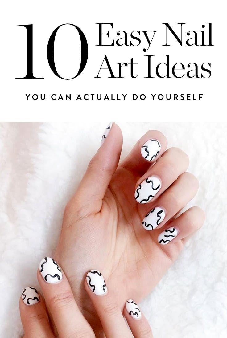10 Easy Nail Art Ideas You Can Actually Do Yourself | Easy nail art ...