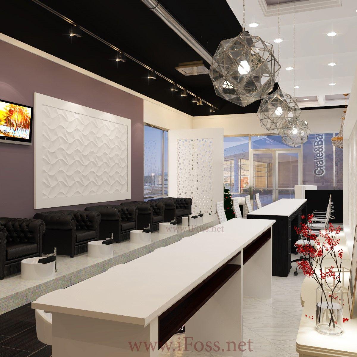 Pin By Kiki Rose On Business Ideas Modern Nail Salon Salon Design Salon Decor