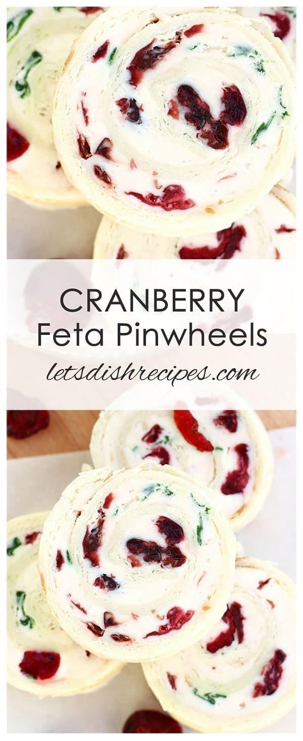 Cranberry Feta Pinwheels #fingerfoodappetizers