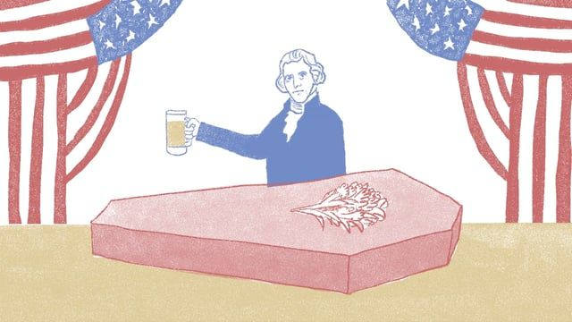 A brief history lesson on what makes America great: beer.