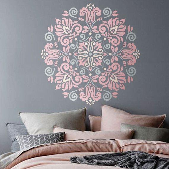 Mandala Stencil Tribal Pattern for DIY Wall Decor Modern Home