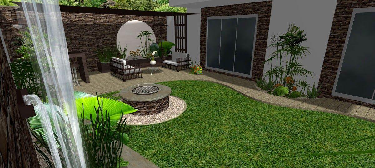 Resultado de imagen para modelos de paredones para frentes for Fotos de patios de casas pequenas