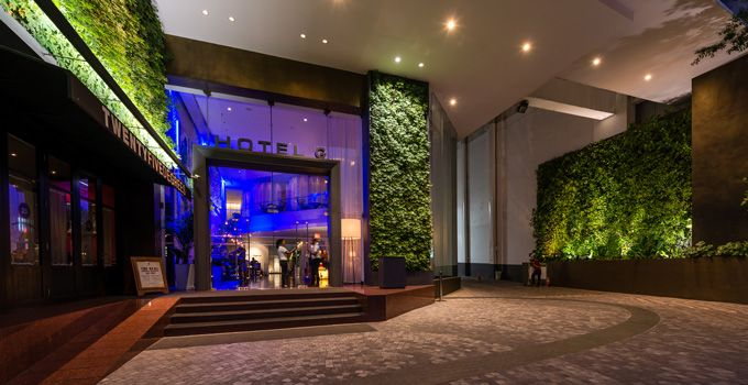 Pullman bangkok hotel g entrance design canopy drop for G design hotel