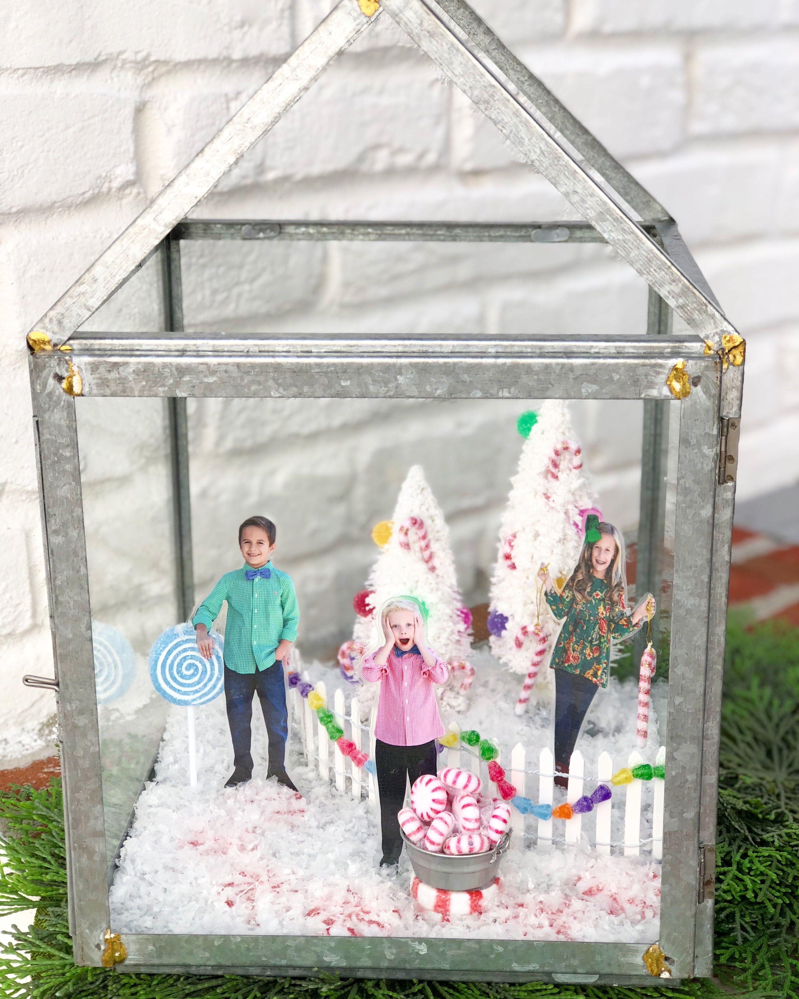 DIY PHOTO SNOWGLOBE SNOW GLOBE CHRISTMAS CRAFT via