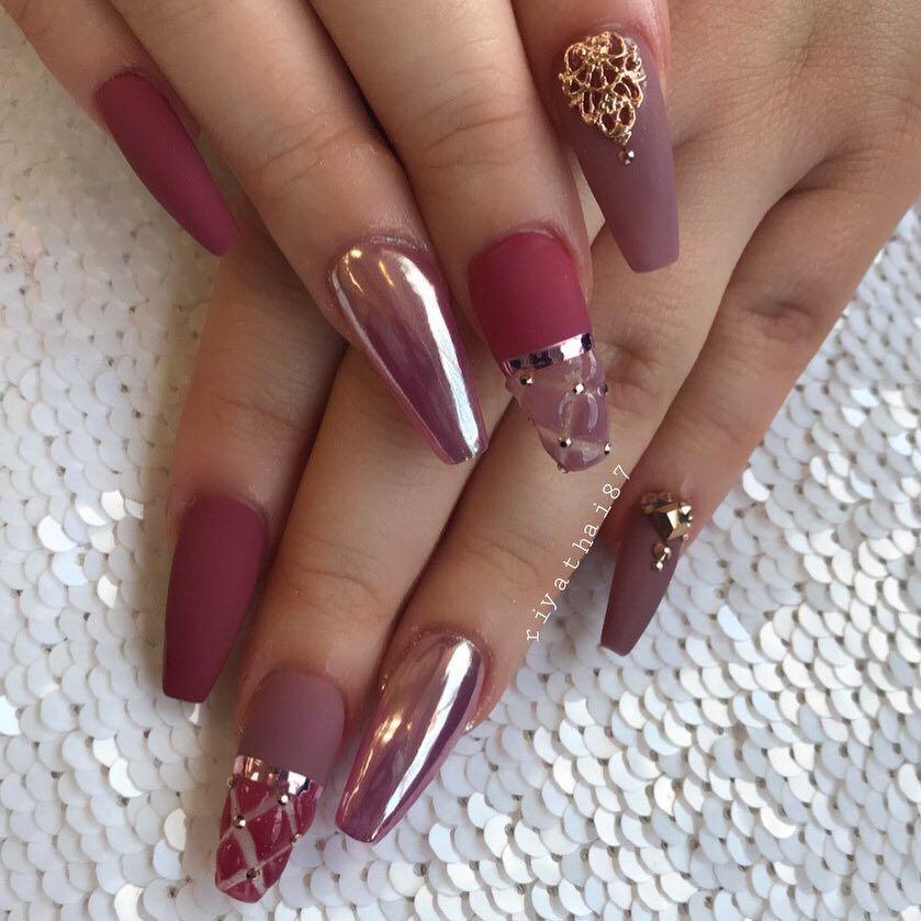 Riya S Nailsalon Riyathai87 On Instagram Riyagelpolish 075 073 Riyasmattetopcoat Riyanailsa Unas Acrilicias De Gel Manicuras Unas Largas Elegantes