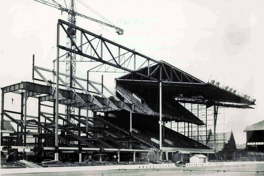 Construction of the main stand in 1969